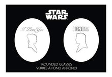 "Load image into Gallery viewer, Star Wars Stemless Wine Glasses - ""I Love You"""