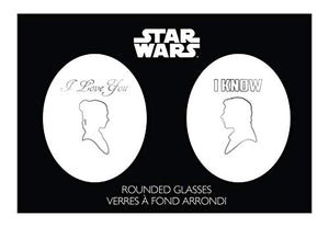 "Star Wars Stemless Wine Glasses - ""I Love You"""