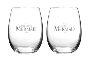 Disney Collectible Stemless Glass Set - Ariel and Flounder