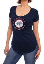 Load image into Gallery viewer, NHL ladies V Neck Short Sleeve Casual Tunic T-Shirt- Washington Capitals