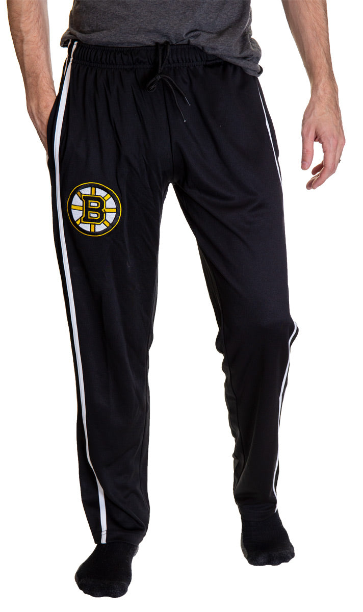 Front View of NHL Men's Striped Training Pant - Boston Bruins Front