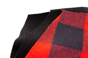 Buffalo Plaid 3 Ply Face Mask, Layers Shown.