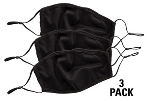 Adjustable 3-Ply Mask with Fitted Nose - 3 Pack