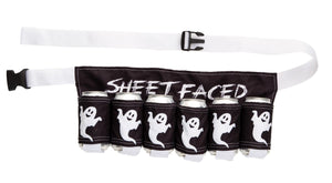 Sheet Faced Beer Belt - Novelty Beverage Holder