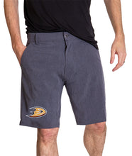 Load image into Gallery viewer, NHL Mens 4-Way Stretch Performance Shorts- Anaheim Ducks