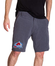 Load image into Gallery viewer, NHL Mens 4-Way Stretch Performance Shorts- Colorado Avalanche Front
