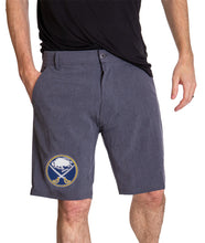 Load image into Gallery viewer, NHL Mens 4-Way Stretch Performance Shorts- Buffalo Sabres Front