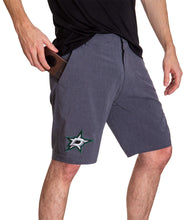 Load image into Gallery viewer, NHL Mens 4-Way Stretch Performance Shorts- Dallas Stars Side