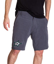 Load image into Gallery viewer, NHL Mens 4-Way Stretch Performance Shorts- Dallas Stars Front