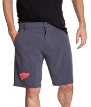 Load image into Gallery viewer, NHL Mens 4-Way Stretch Performance Shorts- Detroit Red Wings Front