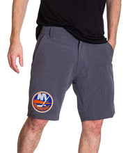 Load image into Gallery viewer, NHL Mens 4-Way Stretch Performance Shorts- New York Islanders Front