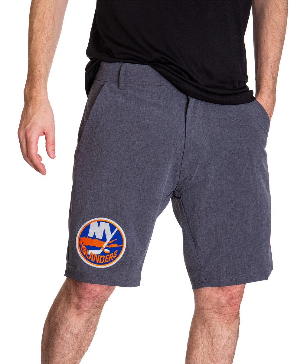 NHL Mens 4-Way Stretch Performance Shorts- New York Islanders Front
