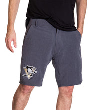 Load image into Gallery viewer, NHL Mens 4 Way Stretch Boardshort- Pittsburgh Penguins Front