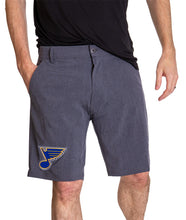 Load image into Gallery viewer, NHL Mens 4 Way Stretch Boardshort- St.Louis Blues Front
