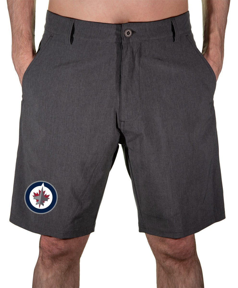 NHL Mens 4 Way Stretch Boardshort- Winnipeg Jets