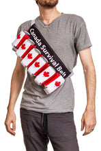 "Load image into Gallery viewer, Novelty Beverage Holder Beer Belt - ""Canada Survival"" Crossbody"
