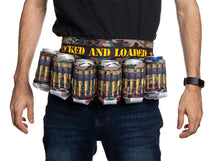 Load image into Gallery viewer, Locked and Loaded Beer Belt, Ammo Design.