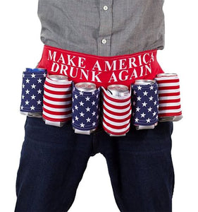 "Novelty Beverage Holder Beer Belt - ""Make America Drunk Again"""