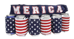 "Novelty Beverage Holder Beer Belt- ""Merica"""