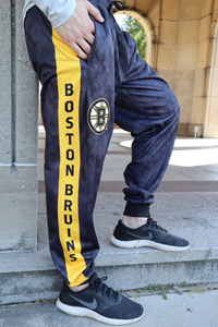 Boston Bruins Tie Dye Jogger Pants for Men Hand in Pocket.