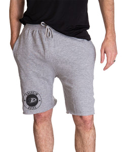 Anaheim Ducks French Terry Jogger Shorts, Front View.