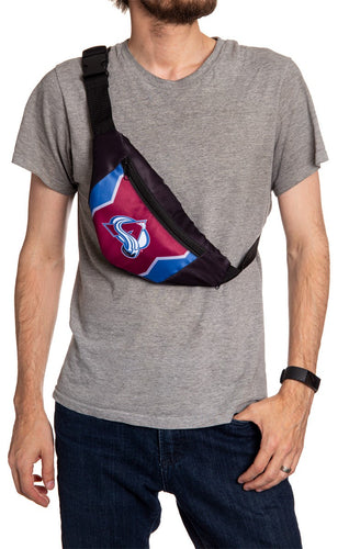 NHL Unisex Adjustable Fanny Pack- Colorado Avalanche Crossbody
