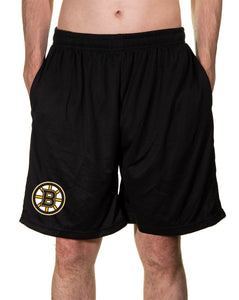 NHL Mens Air Mesh Shorts- Boston Bruins Front