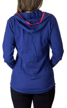 Load image into Gallery viewer, NHL Ladies Official Team Hoodie- Columbus Blue Jackets Back