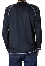 Load image into Gallery viewer, Dallas Stars Jersey Style Long Sleeve Rashguard Back View.