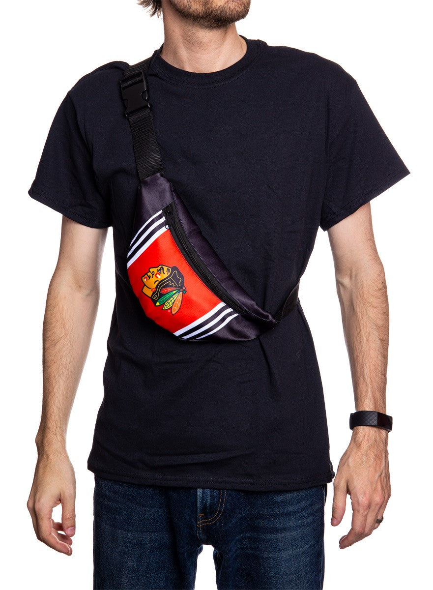 NHL Unisex Adjustable Fanny Pack- Chicago Blackhawks Crossbody