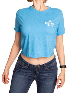 Ladies Corona Beach Side Crop Top- Heather Sapphire