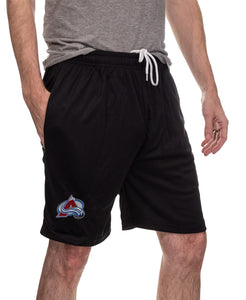 NHL Mens Air Mesh Shorts- Colorado Avalanche