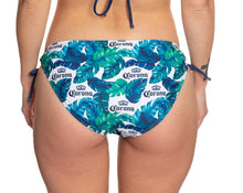 Load image into Gallery viewer, Ladies Corona Bikini - Palm Print String Bikini Bottom Blue, Green, White Palm Print
