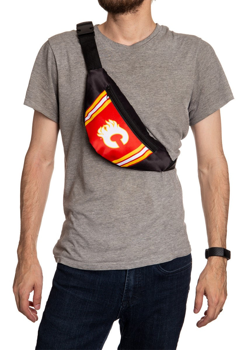 NHL Unisex Adjustable Fanny Pack - Calgary Flames Crossbody