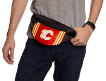 Load image into Gallery viewer, NHL Unisex Adjustable Fanny Pack - Calgary Flames Waist Bag