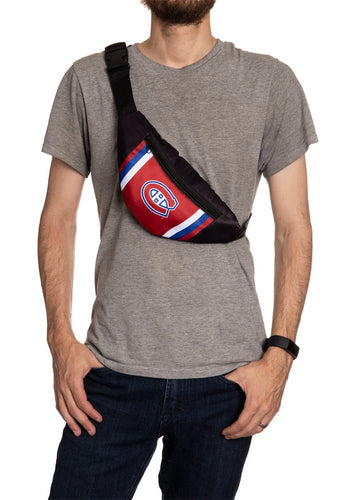 NHL Unisex Adjustable Fanny Pack- Montreal Canadiens Crossbody