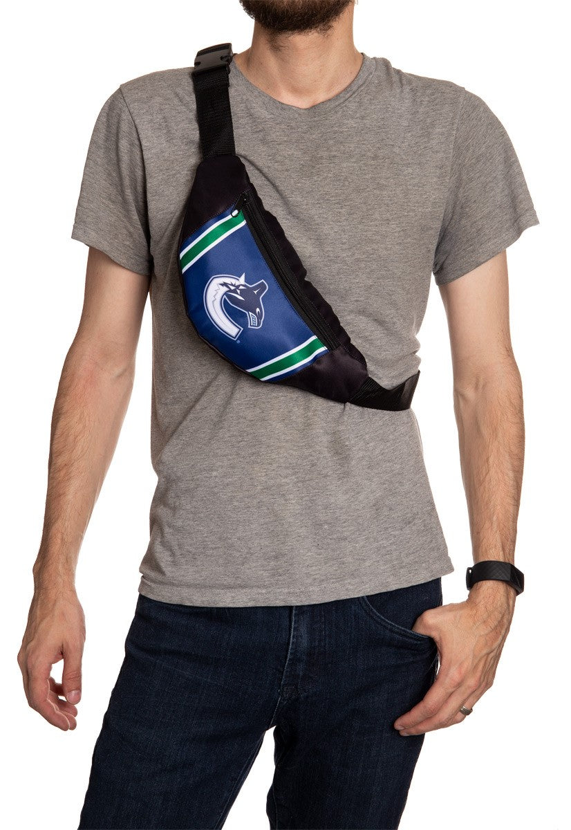 NHL Unisex Adjustable Fanny Pack- Vancouver Canucks Crossbody