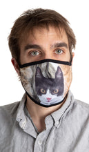 Load image into Gallery viewer, Black Trim Cat Face Mask - 3 Pack