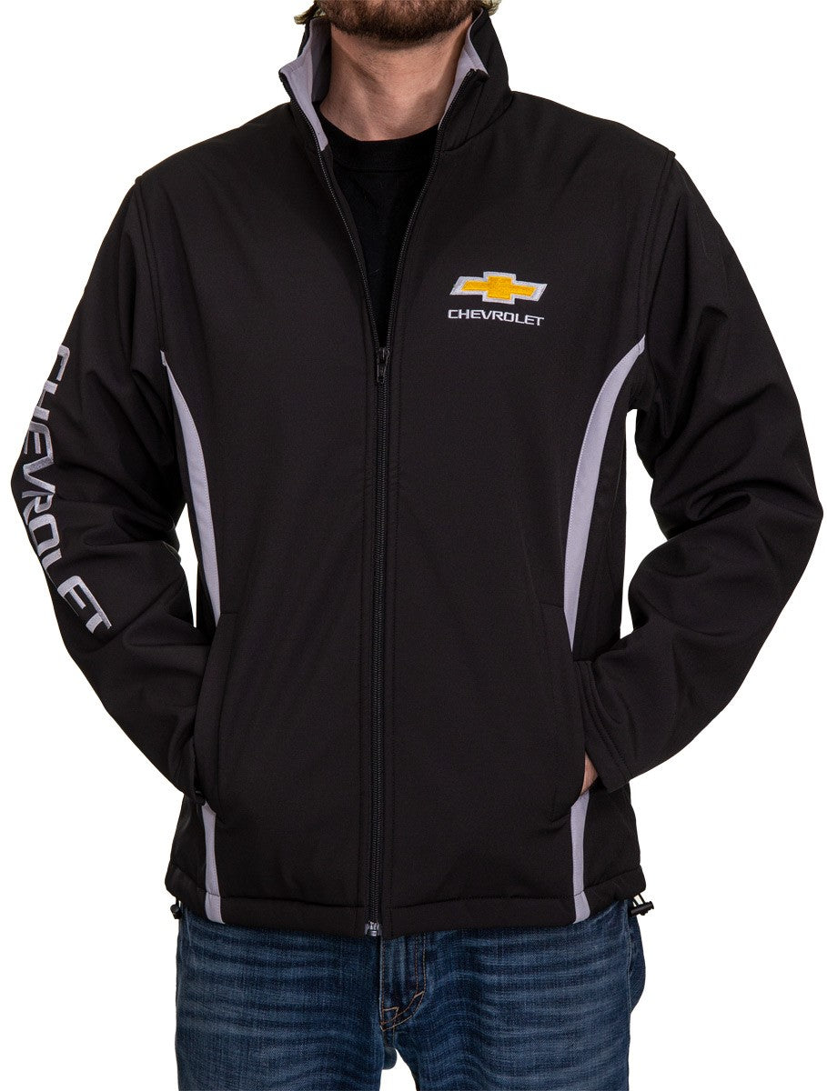 Chevrolet Bowtie Men's Jacket- Black Mens Front Logo