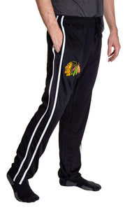 NHL Men's Striped Training Pant- Chicago Blackhawks Side Pocket