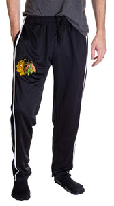 NHL Men's Striped Training Pant- Chicago Blackhawks Front