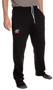 Columus Blue Jackets Embroidered Logo Sweatpants Front VIew