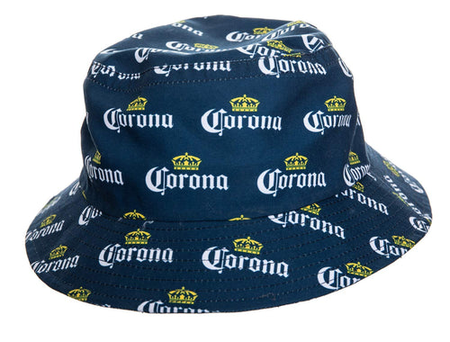 Corona Crown Allover Print Bucket Hat