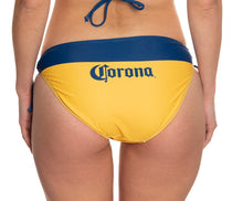 Load image into Gallery viewer, Ladies Corona Bikini- Corona Extra (Blue & Gold) String Bikini Bottom