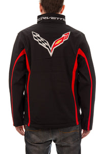 Chevrolet Corvette Men's Jacket- Black Back Logo fleur-de-lis