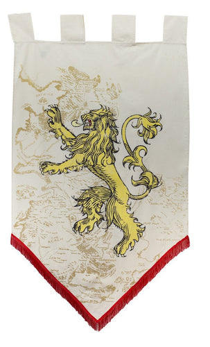 House Lannister Map Banner, Game of Thrones.