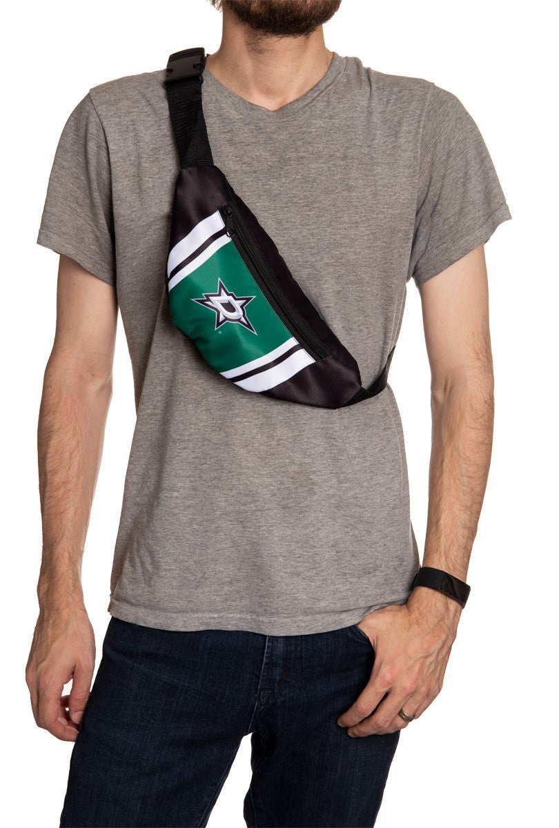 NHL Unisex Adjustable Fanny Pack- Dallas Stars Crossbody