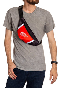 NHL Unisex Adjustable Fanny Pack- Detroit Red Wings Crossbody