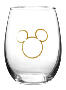 Disney Collectible Wine Glass Set-  90th Anniversary Limited Edition