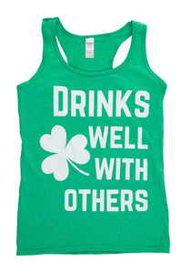 "Mens  ""Drinks Well With Others"" - Tank Top"